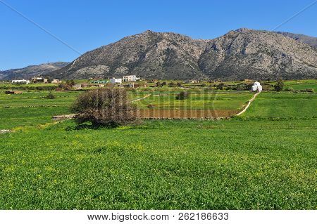 Beautiful Natural Landscape With Traditional White Church