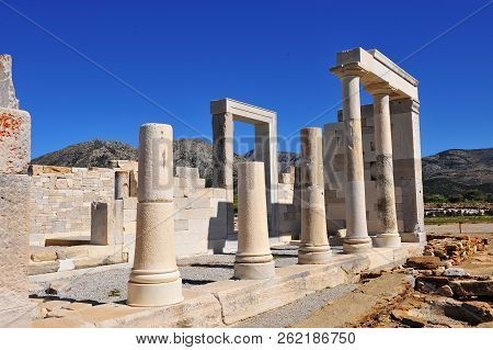 Ancient Temple Of Demeter On Naxos Island