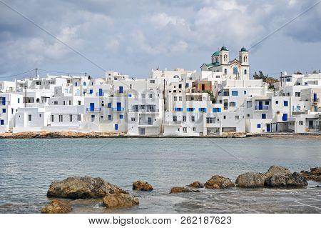 View Of Naoussa Old Town On Paros Island