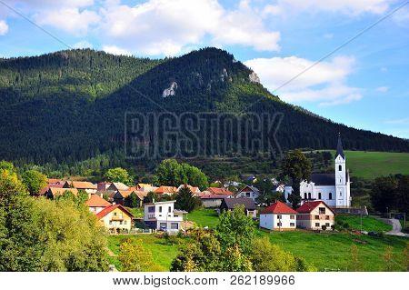 Beautiful Village With White Chapel
