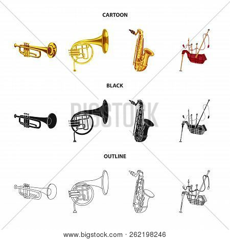 Vector Design Of Music And Tune Sign. Collection Of Music And Tool Stock Symbol For Web.
