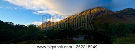 Scottish Highlands Panorama Including Ben Nevis Fall