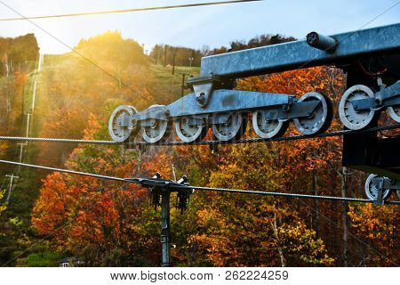 Sun and lift wheels  with foliage colors