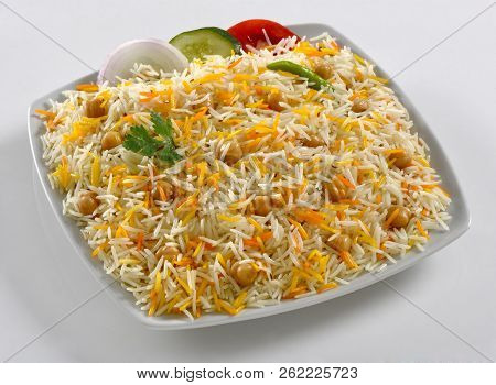 Chana Pulao, Delicious Basmati Rice With Chickpea