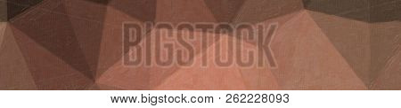 Illustration Of Brown And Red Contrast Oil Painting Banner Background