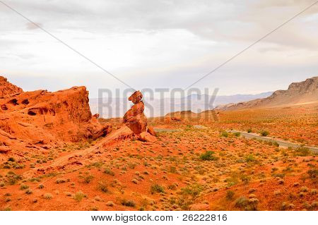 """Scenic views of the State park """"Valley of Fire"""" in Nevada"""