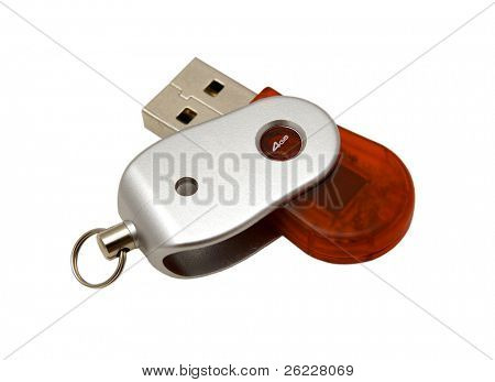 USB pendrive isolated on white background