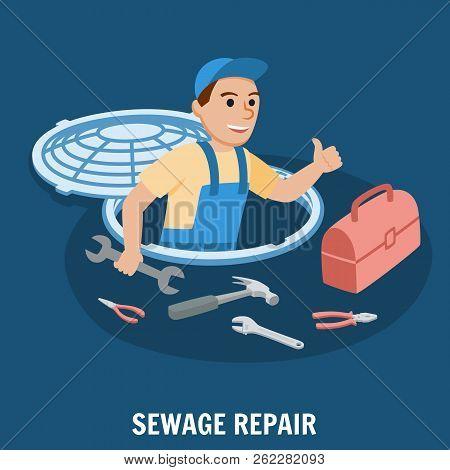Sewage Repair. Plumbing Service. Water Supply Repair. Sewage System. Professional Repairs Plumbing W