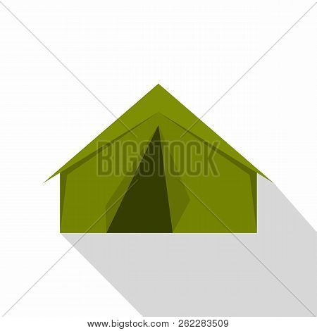 Tourist Or A Military Tent Icon. Flat Illustration Of Tourist Or A Military Tent Icon For Web