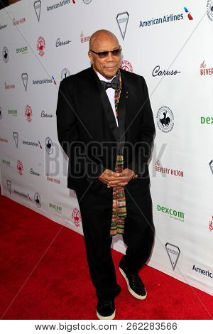 LOS ANGELES - OCT 6:  Quincy Jones at the 2018 Carousel Of Hope Ball at the Beverly Hilton Hotel on October 6, 2018 in Beverly Hills, CA