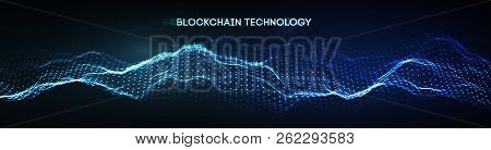 Eps 10. Blockchain Technology Background. Cryptocurrency Fintech Block Chain Network And Programming