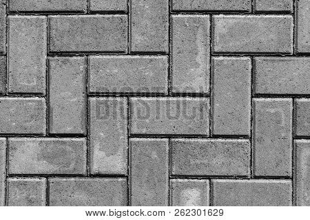 Stone Paving Texture. Abstract Gray Pavement Background.