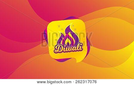 Diwali Festival Greeting Card. Hindu Festive Modern Banner. Indian Rangoli Concept. Deepavali Or Diw