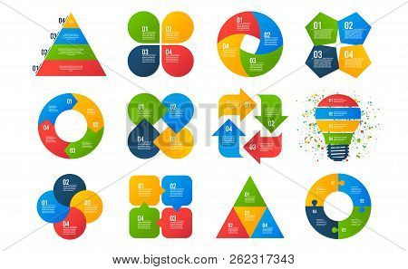 Infographics Templates. Business Diagrams, Arrows Graphs, Presentations, Idea Cycle Charts. Data 4 O