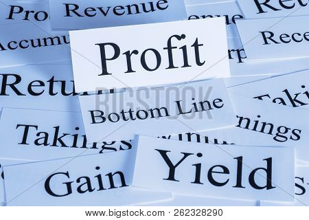 Profit Concept - A Conceptual Look At Profit, Revenue, Yield, Bottom Line, Takings, Gain