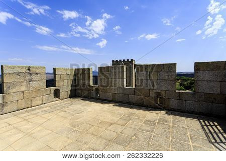 View Of The South Tower Roof With Granite Floor, Parallelepiped Merlons And Cross Shaped Arrowslits,