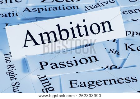 Ambition - A Conceptual Look At Ambition And What It Means