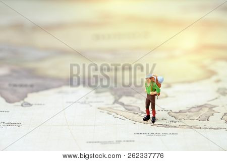 Travel, Tourism, Vacation Or Wanderlust Life Concept, Plan For Next Destination, New Adventure Journ