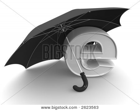 Symbol Of Internet With Umbrella
