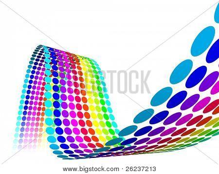 3D Color Dots Waves