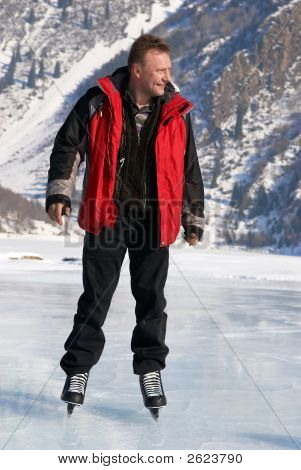Ice Skating On Mountain Like