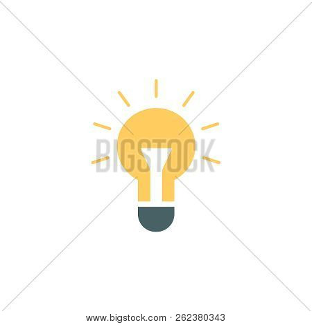 Vector Illustration Of Lightbulb. Vector Lightbulb Icon. Idea Icon.