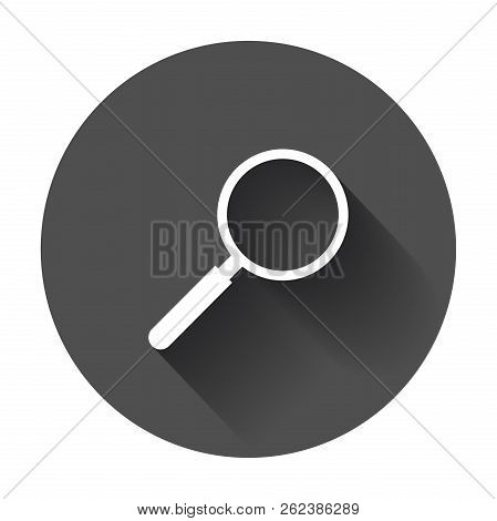 Loupe Icon Vector. Magnifier In Flat Style. Search Sign Concept
