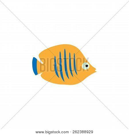 Cute Fish Vector Illustration Icons Set. Fish Flat Style Vector Illustration. Fish Icons Isolated. T