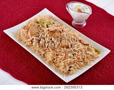 Chicken Pulao / Channa Pulao. A Traditional Light Spicy Rice Dish With Delecious Chicken Pieces