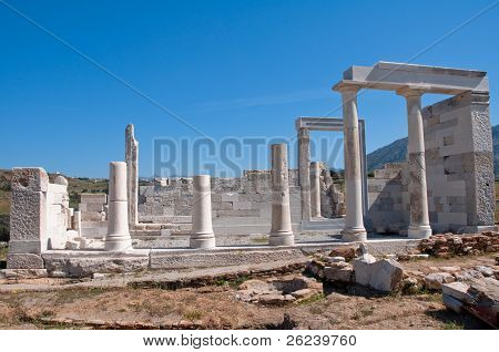 Ruins of the temple of Demeter, Naxos (Greece) poster