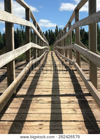 Wooden bridge in Labrador
