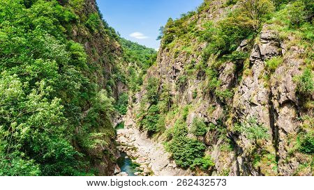 Rio Val Grande As Seen From Casletto Bridge In Val Grande National Park In Piedmont, Italy