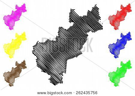 Queretaro (united Mexican States, Mexico, Federal Republic) Map Vector Illustration, Scribble Sketch