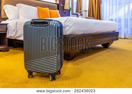 Modern Small Luggage In Hotel
