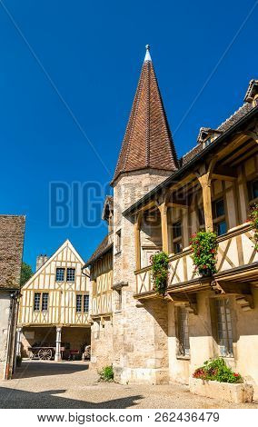 Traditional French Houses In Beaune, Burgundy