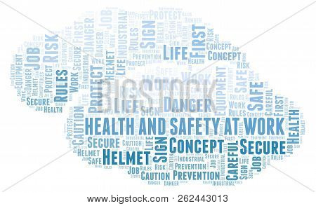 Health And Safety At Work Word Cloud. Word Cloud Made With Text Only.