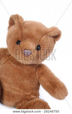 Lindo oso de peluche, aislado en blanco