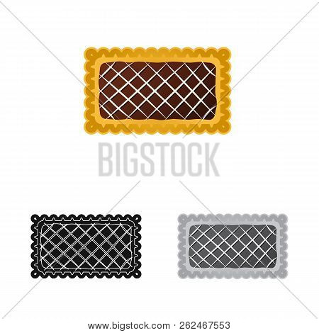 Vector Illustration Of Biscuit And Bake Icon. Set Of Biscuit And Chocolate Stock Vector Illustration