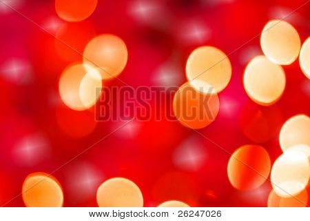 Christmas light blur background with a sparkle
