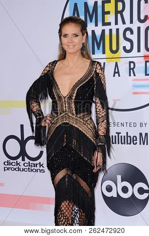 Heidi Klum at the 2018 American Music Awards held at the Microsoft Theater in Los Angeles, USA on October 9, 2018.
