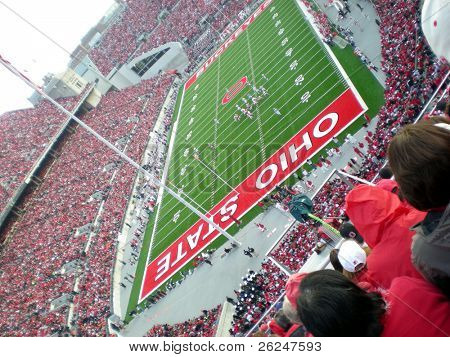 Packed stadium at an Ohio State football game