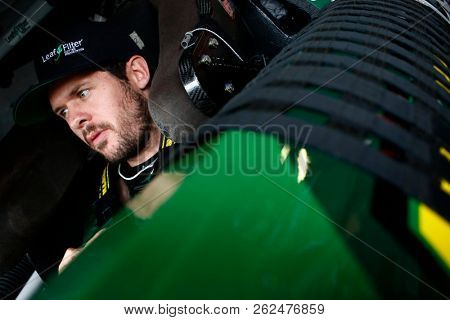 October 05, 2018 - Dover, Delaware, USA: Ryan Truex (11) straps into his car to practice for the Bar Harbor 200 at Dover International Speedway in Dover, Delaware.