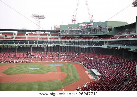 Fenway Park baseball Stadium in Boston Massachusetts, home to the Red Sox