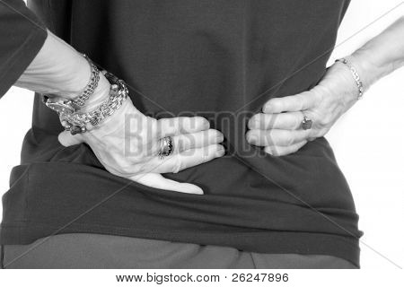 Older woman with lower back pain