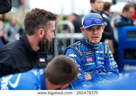 October 05, 2018 - Dover, Delaware, USA: Kyle Larson (42) hangs out on pit road prior to qualifying for the Gander Outdoors 400 at Dover International Speedway in Dover, Delaware.