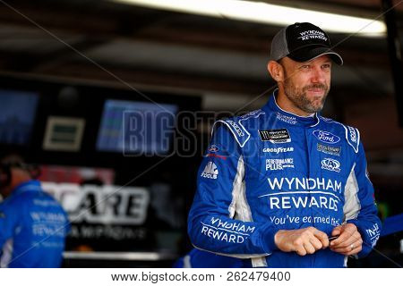 October 06, 2018 - Dover, Delaware, USA: Matt Kenseth (6) hangs out in the garage prior to practice for the Gander Outdoors 400 at Dover International Speedway in Dover, Delaware.