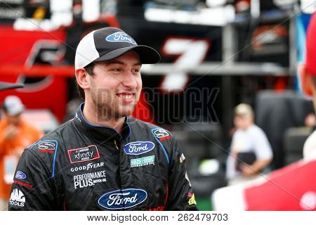 October 05, 2018 - Dover, Delaware, USA: Chase Briscoe (60) hangs out in the garage during final practice for the Bar Harbor 200 at Dover International Speedway in Dover, Delaware.