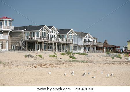 Beachfront homes overlooking the ocean