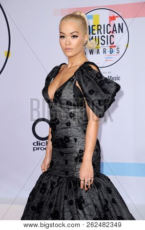 Rita Ora at the 2018 American Music Awards held at the Microsoft Theater in Los Angeles, USA on October 9, 2018.