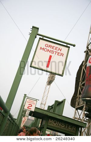 Green Monster seating in Fenway Park in Boston